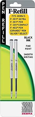 Zebra Refill For F301®, F301® Ultra, F402®, 301A, Spiral Ballpoint Pen, Fine, Black