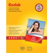 "Kodak Premium Glossy Photo Paper, White, 8 1/2""(W) x 11""(L), 50/Pack"