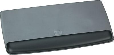 3M Tilt Adjustable Antimicrobial Gel Wrist Platform for Keyboard, Black/Metallic Gray, 1