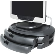 Kantek MS200B LCD Stand With 2 Drawers for 35 lbs. Monitor, Black