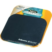 """Fellowes® Polyester Mouse Pad, Nonskid Rubber Base, Navy, 8""""(D)"""