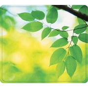 """Fellowes® Recycled Mouse Pad, Nonskid Rubber Base, Leaves, 7 1/2""""(D)"""