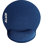 Allsop Pro Foam Mouse Pad/Wrist Rest Combo, Blue (ASR30206)