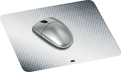 3M Precise Mouse Pad, Nonskid Repositionable Adhesive Back, Gray, 7