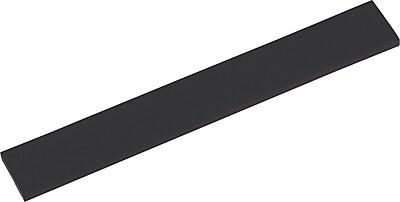 Innovera® Natural Rubber Keyboard Wrist Rest, Black