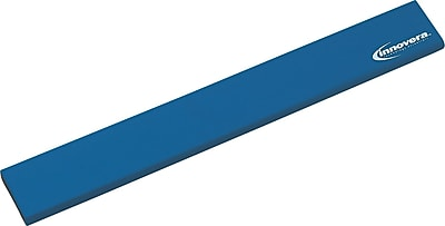 Innovera® Natural Rubber Keyboard Wrist Rest, Blue, 2 1/2