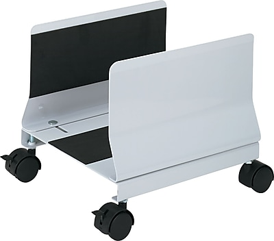"""""Innovera Metal Mobile CPU Stand, Light Gray, 9 3/4""""""""(H) x 10 1/4""""""""(W) x 10 5/8""""""""(D)"""""" IVR54000"