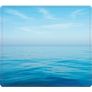"""Fellowes® Recycled Mouse Pad, Nonskid Rubber Base, Blue Ocean, 7 1/2""""(D)"""