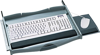"""""""""""Safco  Premium Keyboard Drawer, Charcoal, 21 3/4""""""""""""""""(W) x 13 1/4""""""""""""""""(D)"""""""""""" 918976"""