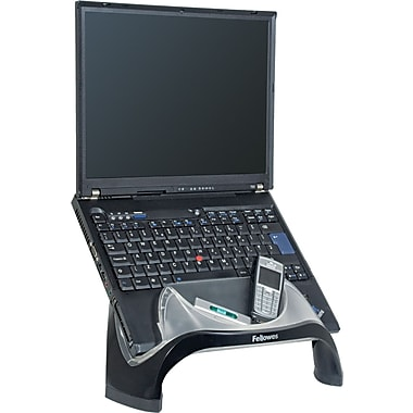 Fellowes® Smart Suites™ Laptop Riser With USB, Black, 7 1/2