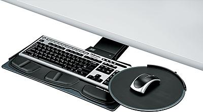 Fellowes ® Adjustable Keyboard Tray, Black, 19