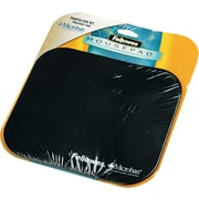 "Fellowes  Polyester Mouse Pad, Nonskid Rubber Base, Solid Color, Black, 8""(D)"