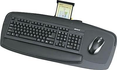Safco Premier Series Keyboard Platform, Black, 27
