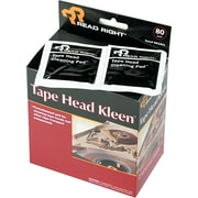 "Read Right  Tape Head Kleen Pad , 5""(W) x 5""(L), 80/Box"