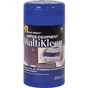 "Read Right  Office Equipment MultiKleen Wipe, Unscented, 3 1/4""(W) x 3 1/4""(L)"