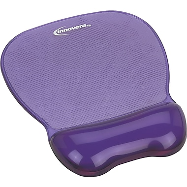 Innovera® Gel Mouse Pad With Wrist Rest, Purple, 9 5/8