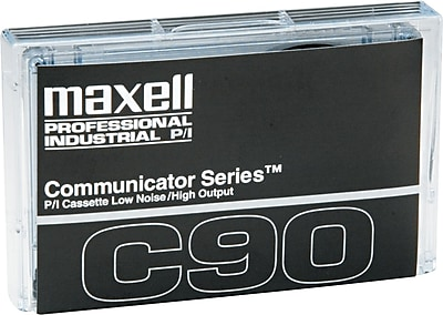 Maxell Audio/Dictation Cassette, Standard Size Communicator, 90 Minute (45 x 2)