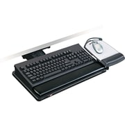 "3M Positive Locking Keyboard Tray With Highly Adjustable Platform, Black, 19 1 / 2""(W) x 10 1 / 2""(D)"