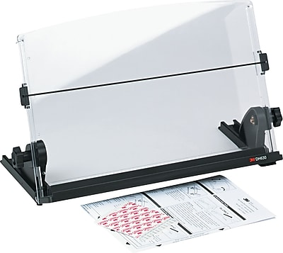 3M Plastic In-Line Document Holder, Black / Clear, 3