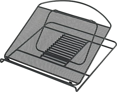Safco® Onyx Mesh Laptop Stand, Black, 2