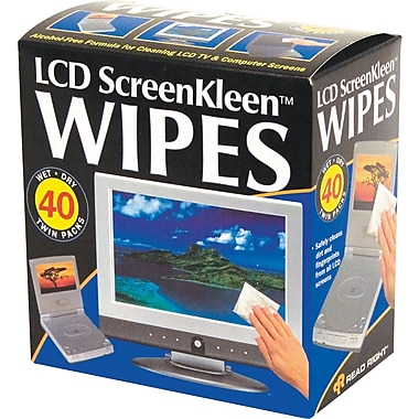 Read Right Alcohol-Free ScreenKleen Wipe, Unscented, 5