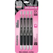 Zebra Z-Mulsion EX Retractable Ballpoint Pens, Pink, 4/Pack