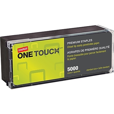 Staples One-TouchPremium Staples, 1/4in. Leg Length, 5,000/Pack