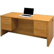 Bestar Embassy Collection Double Pedestal Desk, Cappuccino Cherry