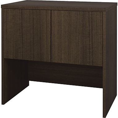Bestar Contempo 2-Door Cabinet, Tuxedo-Grey