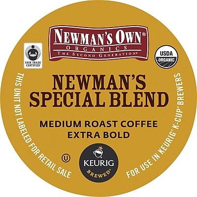 Newman's Own® Organics Special Blend Coffee, Keurig® K-Cup® Pods, Medium Roast, 96/Carton (GMT4050CT)