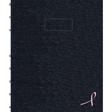 Blueline® Notepro Pink Ribbon Hardcover Notebook, 9-1/4