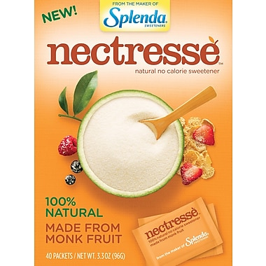 Nectesse™ Natural No Calorie Sweetener, 40/Box
