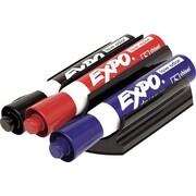 Expo® – Trousse de marqueurs et effaceur à pince aimantée, pointe biseautée