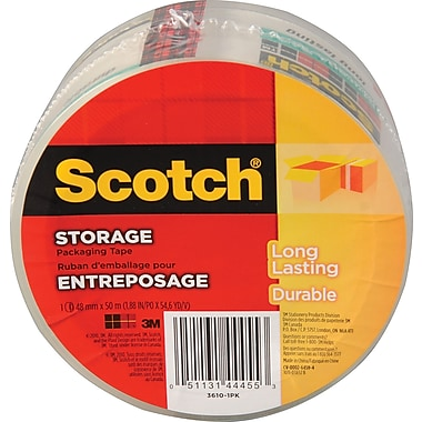 Scotch™ Packaging Tape, 48 mm x 50 m, 2 mil