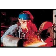 MCR Safety® Crews Aluminum Bound Faceshield Mounted Visor, PETG, Clear