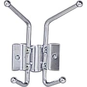 Safco® 2-Hook Wall Rack Coat Hook, Chrome