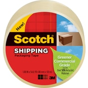 "Scotch Greener Shipping Packing Tape, 1.88"" x 49.2 yds, Clear, 1/Pack"