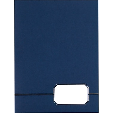 Oxford® Monogram Series Twin-Pocket Portfolio, Blue, 4/Pack