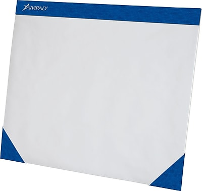 "Ampad® Paper Desk Pad, Blue Edge, 75 Sheets/Pad, 17"" x 22"""