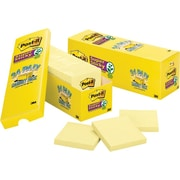 "Post-it® Super Sticky Cabinet Pack, 3"" x 3"", Canary Yellow, 24/Pack"