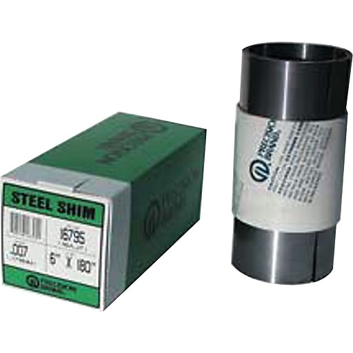 "Precision Brand® Plain Steel Shim Stock Roll, 0.12"" x 6"" x 100"""