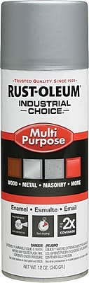 INDUSTRIAL CHOICE® 12 oz Aerosol Can Enamel, Modified Alkyd, Semi-Flat Black, 12 sq ft Coverage