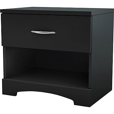 South Shore City Life Collection Night Stand, Solid Black