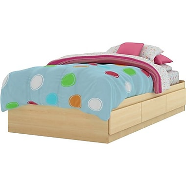 South Shore City Life Collection Twin Mates Bed, Natural Maple