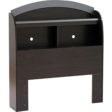 South Shore Cosmos Collection Twin Bookcase Headboard, Black Onyx/Charcoal