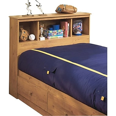 South Shore Little Treasures Collection Twin Bookcase Headboard, Country Pine