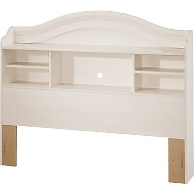 South Shore Summer Breeze Collection Double Bookcase Headboard, Vanilla Cream