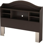 "South Shore Summer Breeze Collection Full Bookcase Headboard (54""), Chocolate"