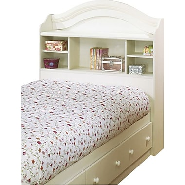 South Shore Summer Breeze Collection Twin Bookcase Headboard, Vanilla Cream