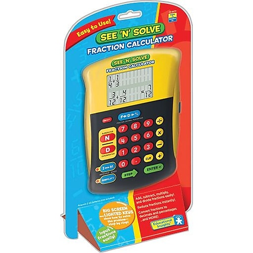 Educational Insights® See 'n' Solve Fraction Calculator